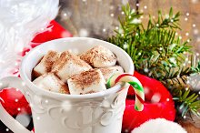 Hot chocolate, christmas decoration
