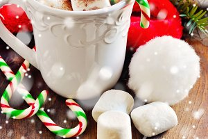 Hot chocolate, christmas decoration