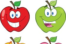 Apple Cartoon Characters Collection