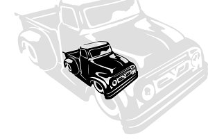 Vintage Pickup Truck 3