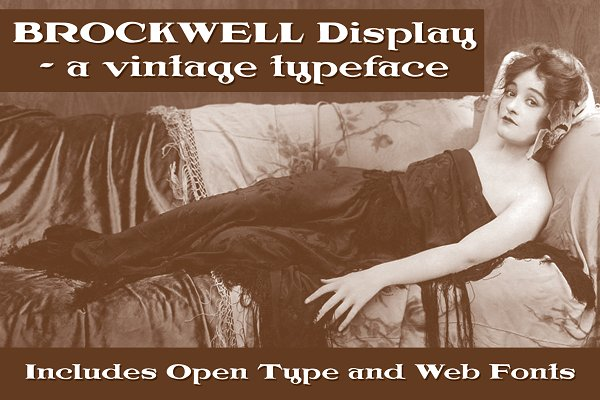 Brockwell Display - OTF & WOFF Fonts
