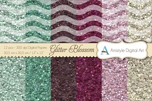 Glitter Papers - Blossom Wave