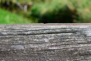 Closeup of Weathered Bridge Timber