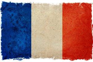 Vintage design french flag