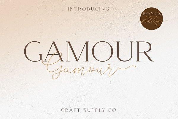 Best Gamour - Elegant Serif Font + Bonus Vector