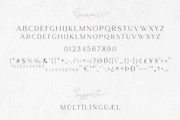 Gamour - Elegant Serif Font + Bonus in Serif Fonts - product preview 5