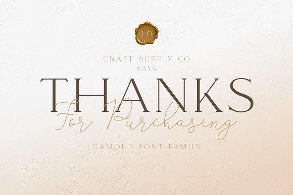 Gamour - Elegant Serif Font + Bonus in Serif Fonts - product preview 8