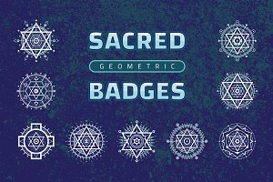 Sacred Geometric Badges - Vector Set