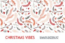 Christmas floral pattern collection