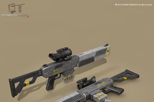 sci fi battle rifle