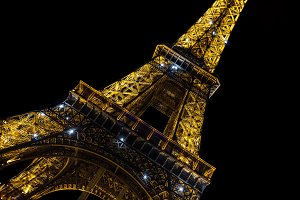 Eiffel Tower Paris Night