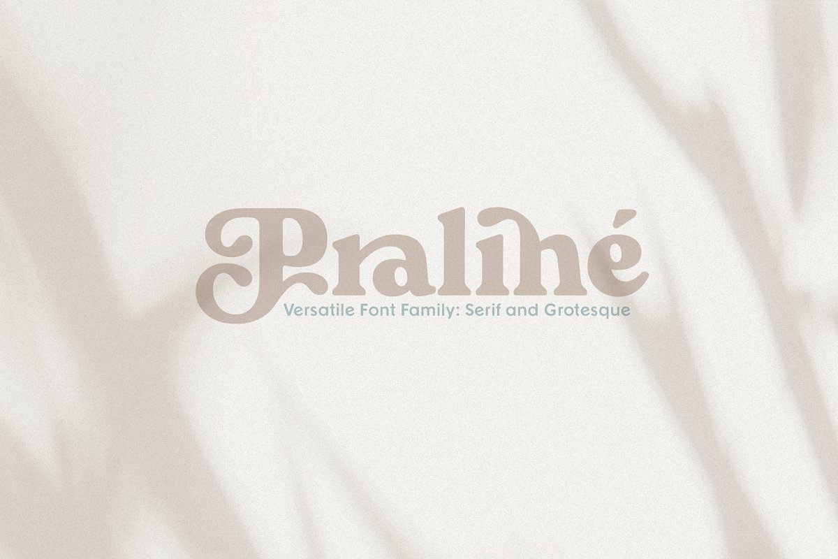 Praline Font Family in Serif Fonts - product preview 8