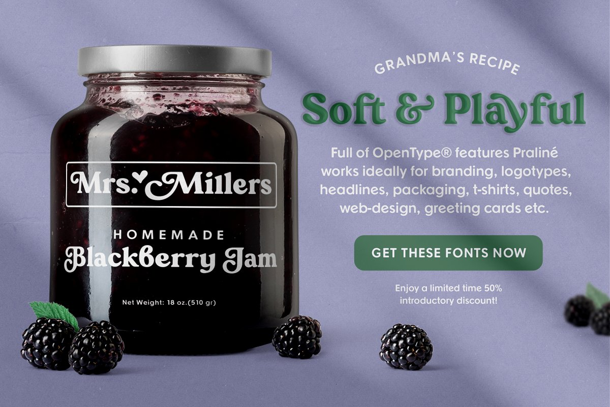 Praline Font Family in Serif Fonts - product preview 7