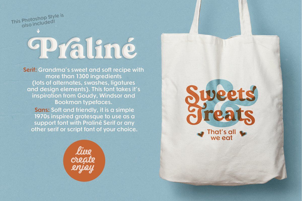 Praline Font Family in Serif Fonts - product preview 9