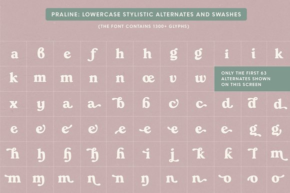Praline Font Family in Serif Fonts - product preview 18
