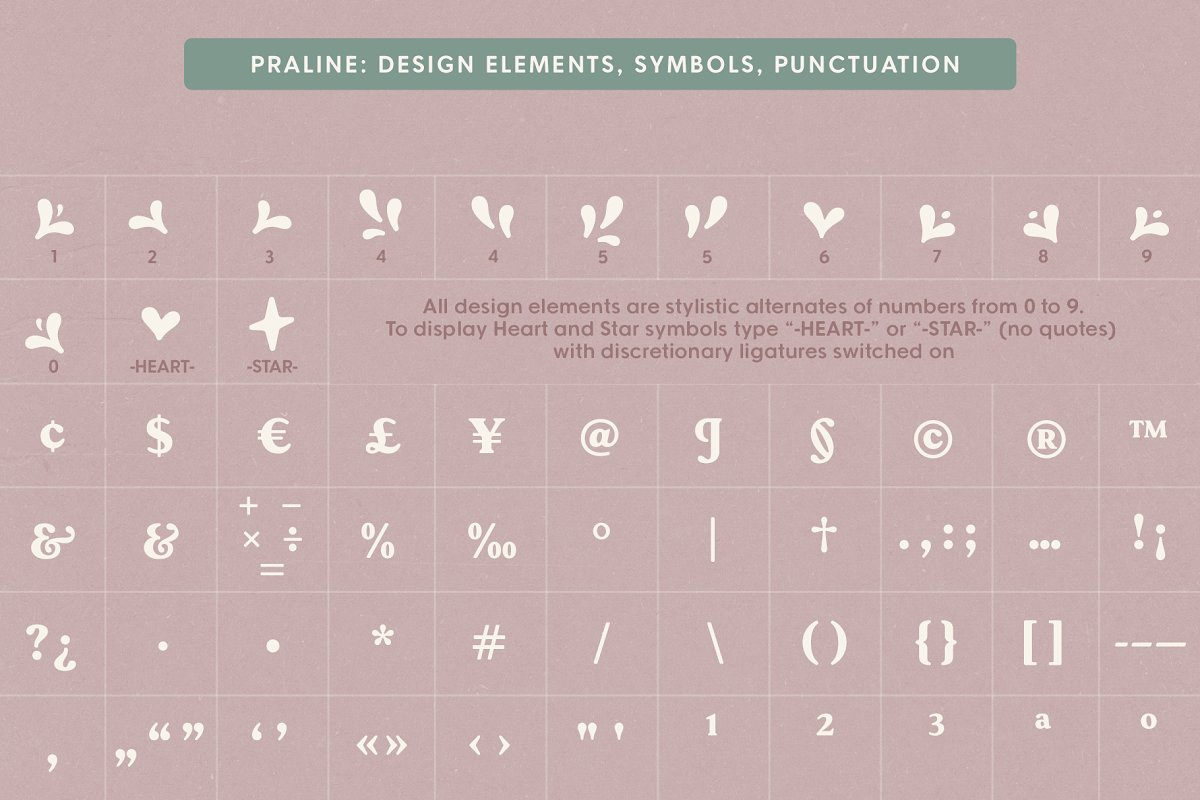 Praline Font Family in Serif Fonts - product preview 20