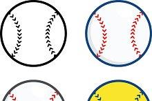 Baseball Balls Collection