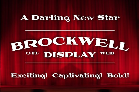 Brockwell Display - OTF & WOFF Fonts in Display Fonts - product preview 2