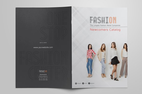 a4 fashion catalog brochure templates creative market