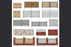 Simple flat fences