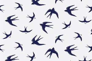 Swallow bird pattern.