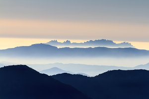 Mountains from Montserrat