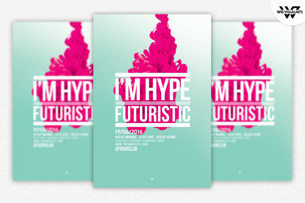 minimal hype abstract flyer template flyer templates creative market