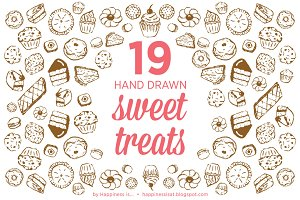 19 Hand Drawn Cakes and Sweet Treats