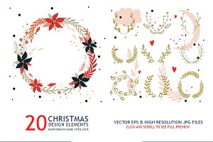 20 Christmas wreath collection