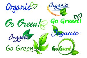 Go Green icons and symbols