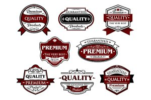 Assorted Premium Quality labels and