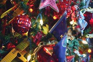 Festive Ornament Scene