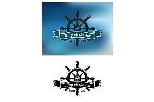 King Of The Sea marine emblem or bad