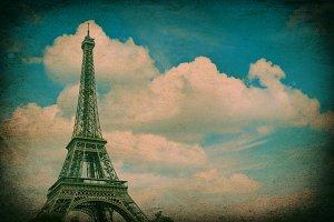 Eiffel Tower vintage style