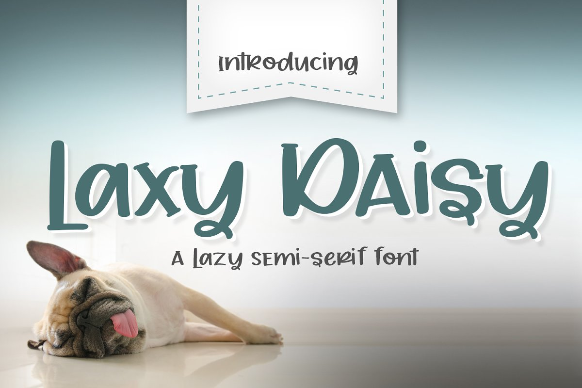Laxy Daisy Font in Serif Fonts