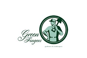Green Fingers Gardener Landscaper Lo