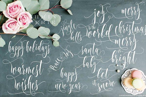 Christmas typography overlays