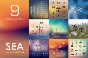 9 sea infographics