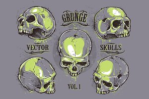 Grunge Skulls Set #1