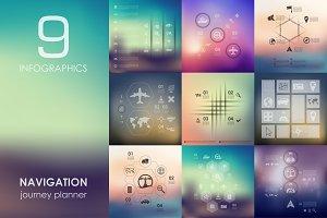 9 navigation infographics