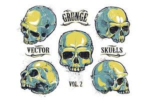 Grunge Skulls Set #2