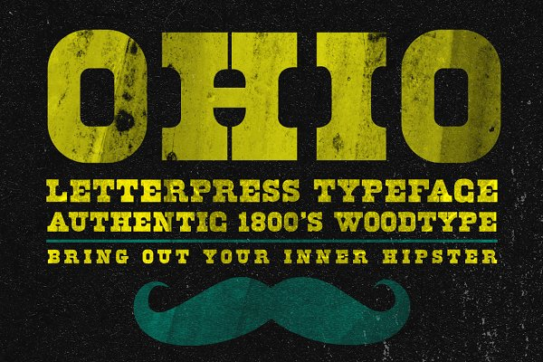 Ohio - Wood Type Typeface