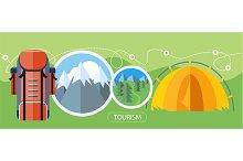 Camping Tourism Concept