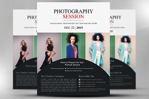 Photography Session Flyer Template