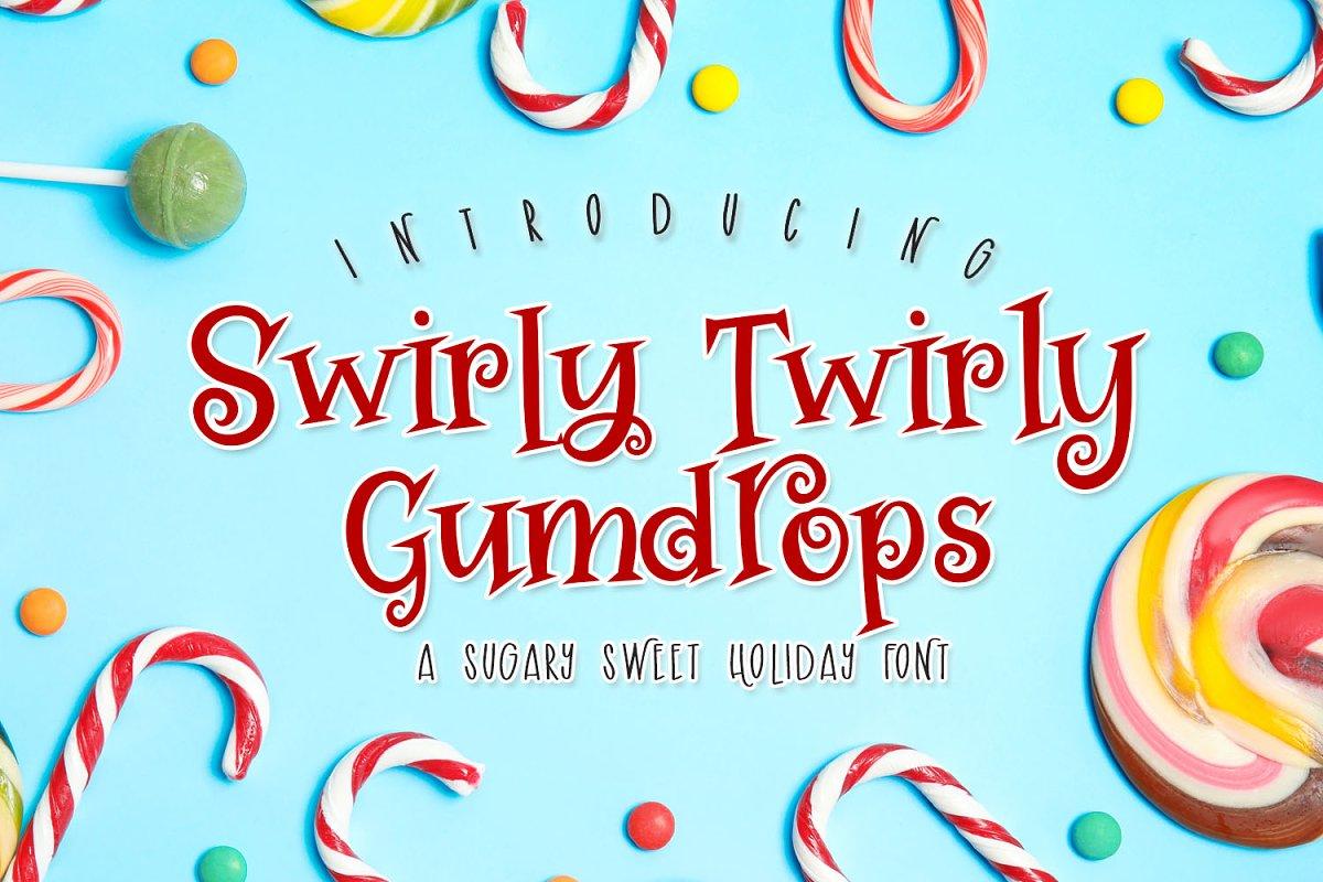 Swirly Twirly Gumdrops Font in Serif Fonts