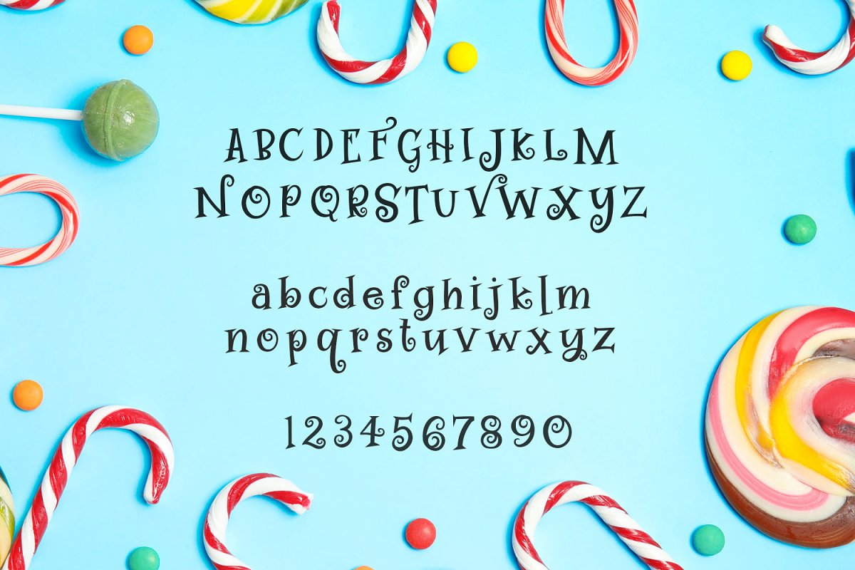 Swirly Twirly Gumdrops Font in Serif Fonts - product preview 1