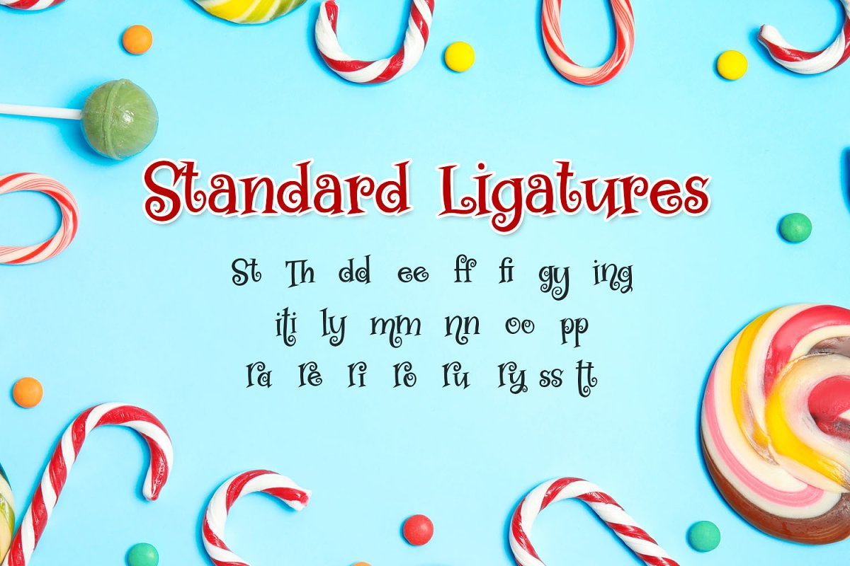 Swirly Twirly Gumdrops Font in Serif Fonts - product preview 2