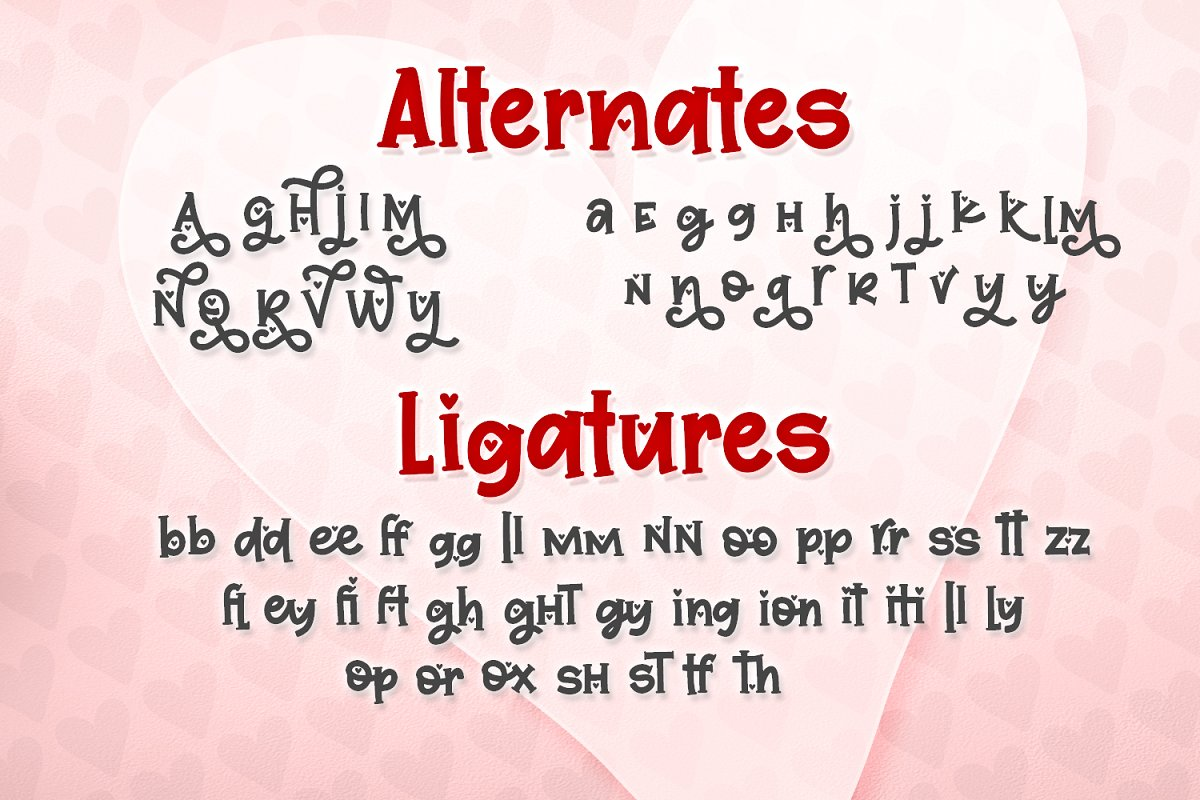 Quite Smitten Font in Serif Fonts - product preview 2