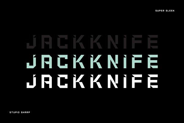 Jackknife – Edgy Display Font
