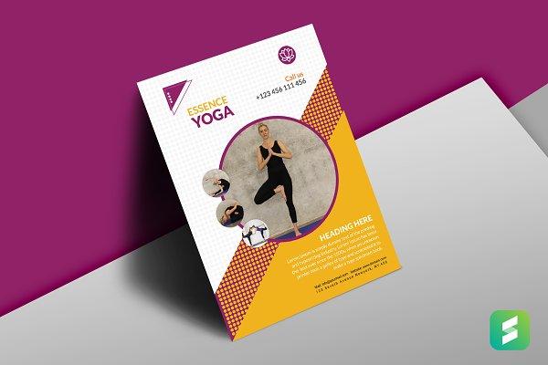 Yoga Training Center Flyer Template